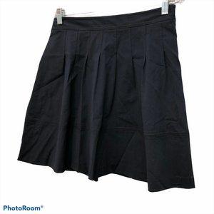 theory navy blue cotton drop pleat skirt 4